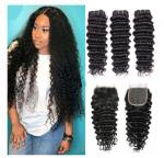 Comfortable Cambodian Virgin Hair Deep Curly Double Wefting 100 Grams / Piece