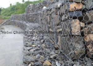 China 8 × 10 mesh Gabion Box for Water and Soil Protection / Wire Cage Retaining Wall on sale