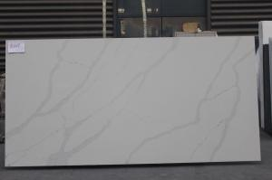 China Snow White Quartz Stone, White Artificial Quartz, White Quartz Kitchen Countertops on sale