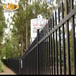 Garden backyard palisade security fence / wrought iron fence with cheap price