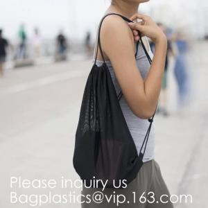 China Heavy Duty Laundry Nylon Mesh Stuff Bag with Sliding Drawstring,Durable Nylon Mesh Drawstring Laundry Bag Portable Trave on sale