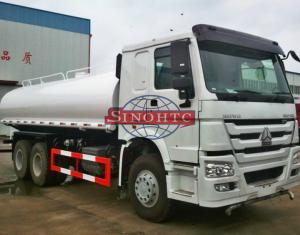 China 20000 - 25000 Liters HOWO Water Tanker Truck STEYR 290HP / 336HP Engine Power on sale