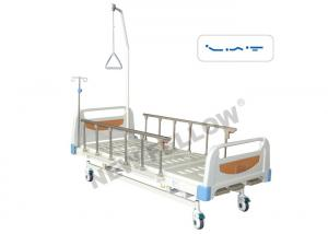 China Three Function Old Man Manual Hospital Bed , Portable ICU Patient Bed on sale