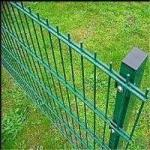 PVC Powder Coated/Galvanized Double Wire Mesh Fence Panels