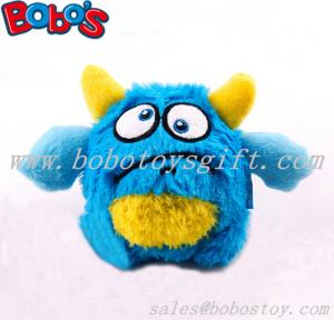 China ECO-friendly material blue monster pet toy plush stuffed dog toy with squeaker on sale