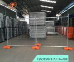 AS 4687 2.4x2.1m Australia temporary fence with concrete filled plastic feet and clamps