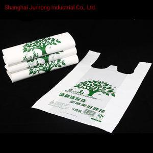 China T Shirt Compostable Biodegradable Plastic Bags Manufacturing made from corn starch on sale