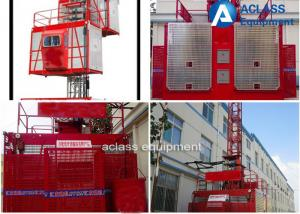 China SC Series Construction Hoist Elevator Red Electric For Residential Building on sale