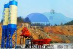 HZS50 Electrical Ready Mix Concrete Plant Equipment With 3/4 Storage Bins