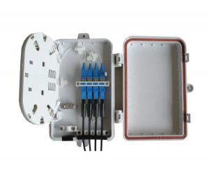 Quality FTTH indoor wall mounted 4 out ports fiber optic terminal box with SC/UPC pigtail and adapter for sale