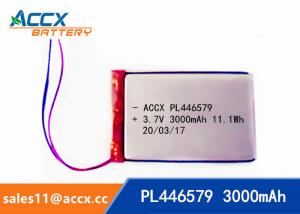 China pl446579 3.7V 3000mAh rechargeable lipo battery for DVD player, mobile phone 446579 li-ion polymer battery on sale
