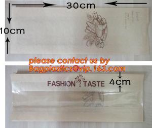 China OEM High Quality Enviromental Clear Window Bread Toast Paper Bags, Brown Kraft Sharp Bottom Food Safe Snack Paper Bags on sale