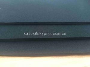 China 3mm Elastic Laminated Double Side N Fabric Fireproof Sealing Black CR Foam Neoprene Sheet on sale