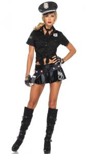 China Wholesale Cop Robber Costumes Ms Officer Costume Kit for Halloween Christmas on sale