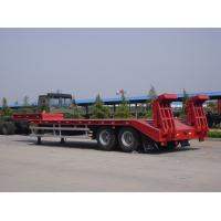 2 Axle Low Bed Trailer 8 Tires Heavy Duty Loading 40 Tons For Transit Machinery