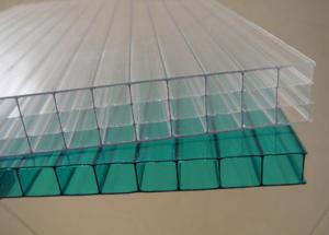 China 4-30mm UV Coated Hollow Greenhouse Polycarbonate Sheets Bayer Resin on sale