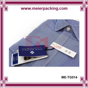 China Apparel hangtag, foldable paper hang tags for clothing, menswear hang tags ME-TG014 on sale