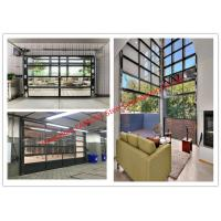 Aluminum Frame Rolling Door Customized Transparent Door With Tempered Glass Panel
