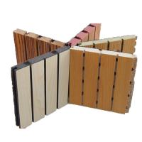 Sound Absorbing Wooden Grooved Acoustic Panel / Decorative Wall Board for Music Room
