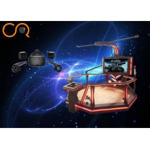 China 9d Virtual Shooting Simulator Vr Walking Platform With Fighting Games on sale