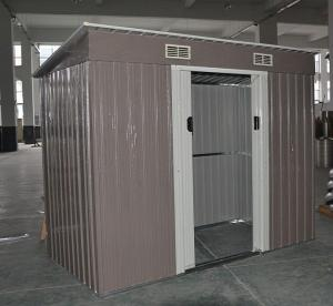 China Movable DIY Metal Storage Shed 4x8 Pent Roof Sheds Galvanizing Stainless Steel on sale