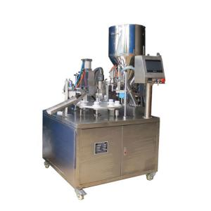 China High Viscosity Liquid Semi Automatic Hose Filling And Sealing Machine For Aluminum Tube on sale