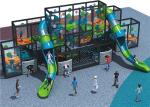 Adventurous Kids Playground Equipment Large Climbing Wall For Cultivating Courage