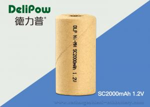 China High Energy Density Industrial Rechargeable Battery SC2000mAh 1.2V on sale