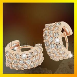China wholeale gold plating 925 sterling silver earring with top CZ on sale