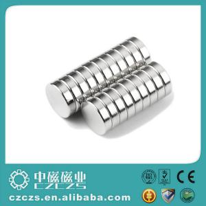China Inventory Permanent NdFeB Magnet Disc / Ndfeb Magnet with Ni Coating on sale