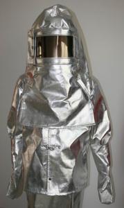 China Tela aluminizada do terno da proximidade do fogo dos materiais resistentes ao calor on sale