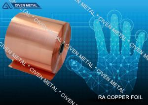 China RA Pure Copper Foil With Good Mechanical Performance for Electronic Components on sale