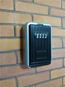 China Weatherproof  Door Key Lock Box 4 Digit Combination Key Code Distributing on sale