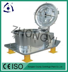 China Stainless Steel  Vertical Manual Top Discharge Basket Centrifuge on sale