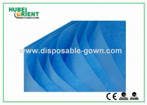 China Single Use Non Woven Disposable Bed Sheets with Round Elastic Rubber , White / Blue Color on sale
