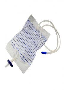 China Square Shape Disposable Urine Bags , Bladder Bag Cross / Pull Push / Screw Valve on sale