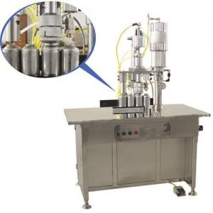 China QGBS-500 Series 3-in-1 semi-automatic aerosol filling machine/Aerosol Filler on sale