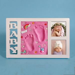 China High End Ornament Photo Frame 34X21.5CM Baby Hand And Foot Impressions on sale