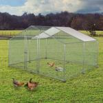 DIY Walk-in Chicken Coop/Chicken Run Kennel with Siler Waterproof Cover 4x3m