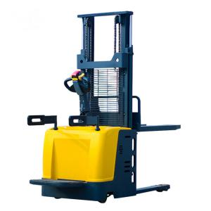China 5M Electric Lifting Port Forklifts Energy Saving Wide Ligs Pallet Reach Stacker CE Certification on sale