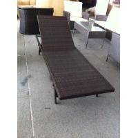 Modern Brown Outdoor Rattan Garden Furniture / Garden Sun Loungers