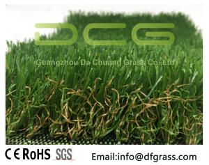 China Olive Shaped Monofilament Realistic Artificial Grass Soft Touch Natural Looking on sale