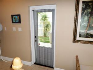 China Anti mosquito waterproof Retractable screen door with pleated net on sale