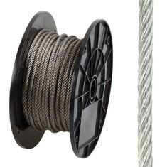 China 7x19 AISI316 Stainless Steel Wire Rope Long Service Life For Green Wall on sale