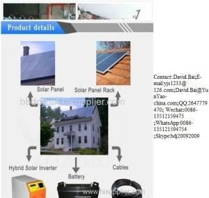 China complete Off grid tied Solar Power Generator Solar Home Power System on sale