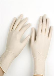 China Single Packing Sterile Disposable Latex Gloves Surgical Lightly Powdered on sale