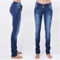 China New Women Slim Flare Pants Fashion Lady Skinny Denim Jeans Mid Waist on sale
