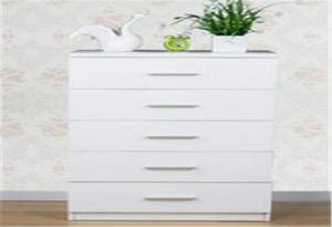 China Mutilfunctional 5 Drawer Storage Cabinet White Storage Cupboard For Bedroom on sale