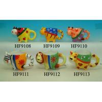Cartoon Custom Ceramic Mugs Sublimation Cups Animal Heads For For Souvenir