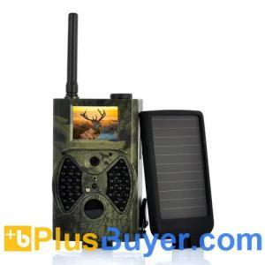 China Solar-Shot - PIR Game Hunting Camera With 1500mAh Solar Panel (1440x1080, Night Vision, MMS) on sale